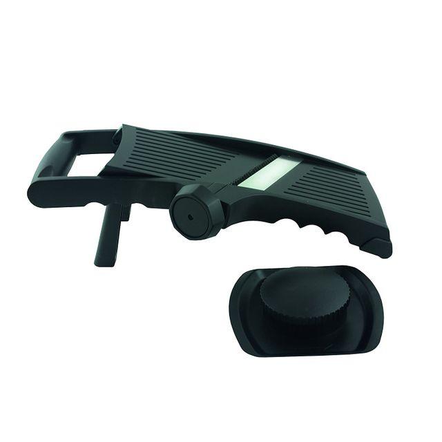 MARQUE GENERIQUE Mandoline 3 lames inox avec poussoir - Plastique
