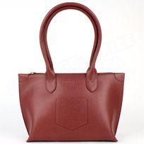 Volumica - Sac Cabas Shopping Marie cuir Rouge bordeaux Beaubourg