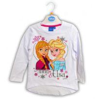 Tv Mania - T-shirt La Reine des Neiges Frozen, : Blanc : Taille 10