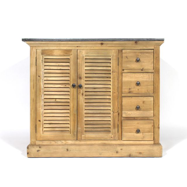 Made in meubles meuble de salle de bain bois massif 1 - Meuble bas salle de bain pas cher ...