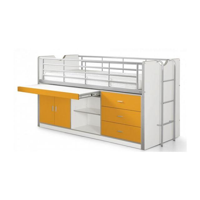 Vipack Lit Combin Bureau Bonny Orange