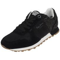 Pepe Jeans , Chaussures mode ville Verona noir lady Noir 58368