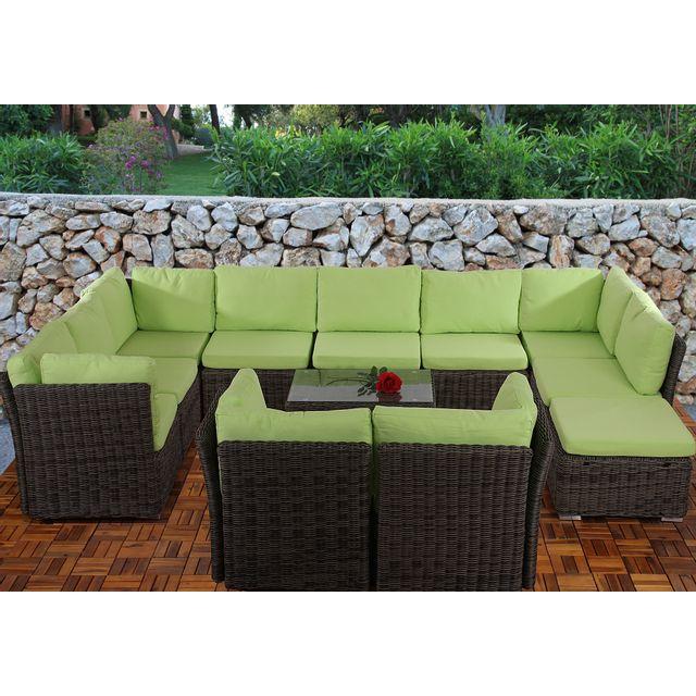 Mendler - Coussin d\'assise pr salon de jardin modulable ...