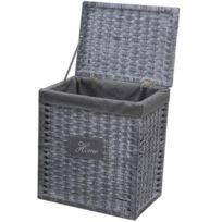 panier a linge en osier achat panier a linge en osier pas cher soldes rueducommerce. Black Bedroom Furniture Sets. Home Design Ideas