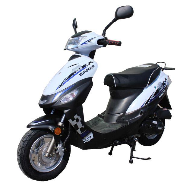 eurocka scooter cka city 50cc 4t noir blanc achat vente scooters 50 pas cher rueducommerce. Black Bedroom Furniture Sets. Home Design Ideas