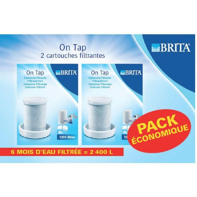 BRITA Pack de 2 cartouches On tap L12502