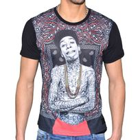 Celebrytees - Celebry Tees - T Shirt - Homme - Rap Bandana - Noir