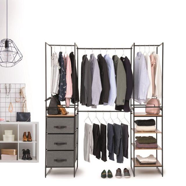 Five Armoire Dressing Modulable Extensible 180 Cm 5five Pas Cher Achat Vente Armoire Rueducommerce