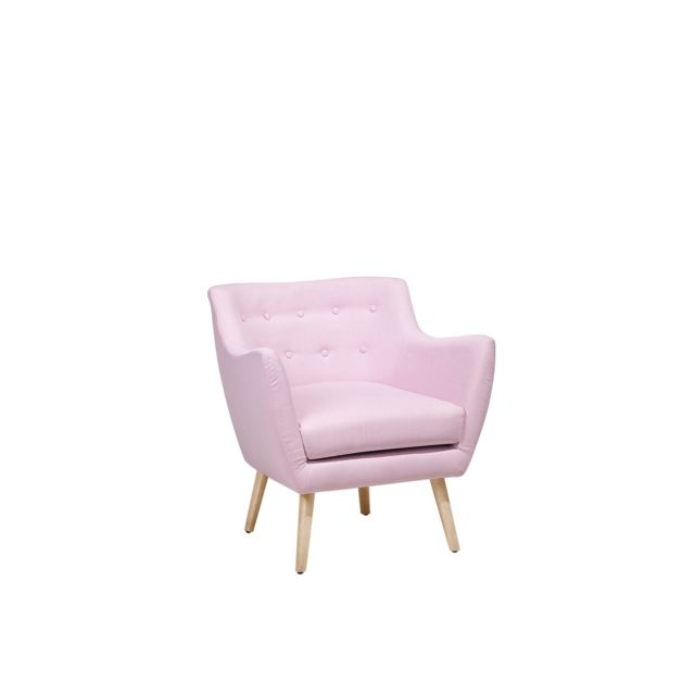 BELIANI Fauteuil rose pastel style Scandinave DRAMMEN - rose