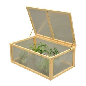 outsunny mini serre de jardin serre tomates 100l x 66l x 40h cm bois massif polycarbonate. Black Bedroom Furniture Sets. Home Design Ideas