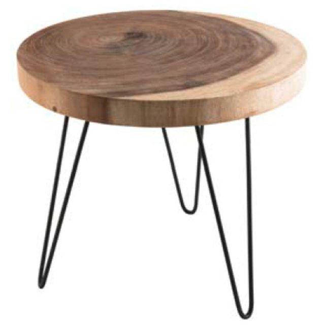 Inside 75 Table basse ronde en bois Clara