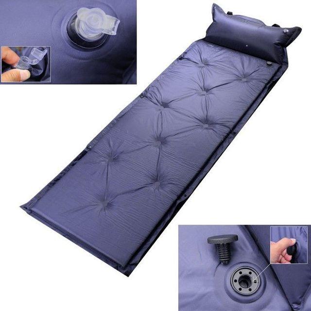 yonis matelas auto gonflable randonn e camping lit de camp violet 57cm x 183cm pas cher. Black Bedroom Furniture Sets. Home Design Ideas
