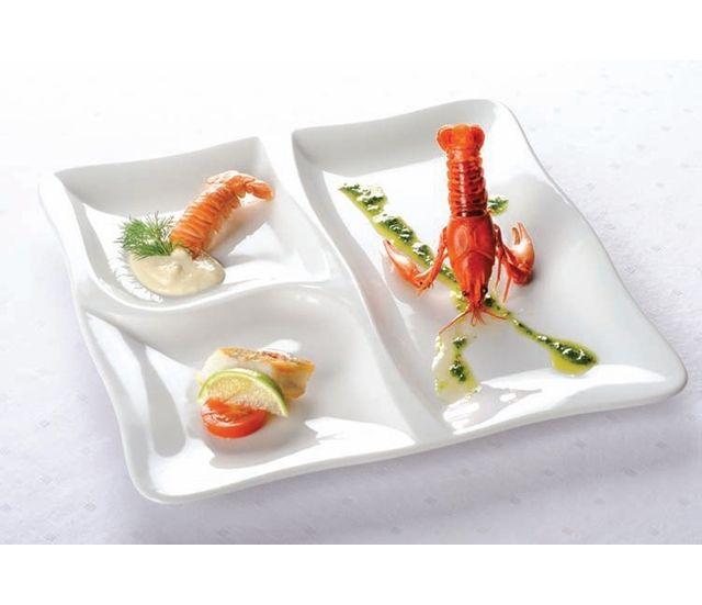 Lebrun Assiette carree 28 cm Gourmet