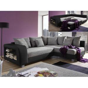 MARQUE GENERIQUE Canapé Dangle Convertible Tissu Et Simili KUOPIO - Canapé d angle gauche