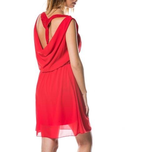 02156be3fd5e2 Princesse Boutique - Robe fluide Rouge dos broderie - pas cher Achat ...