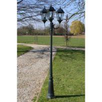 Destockoutils - Lampadaire extérieur de jardin en fonte d'aluminium 3 lampes hauteur 230 cm
