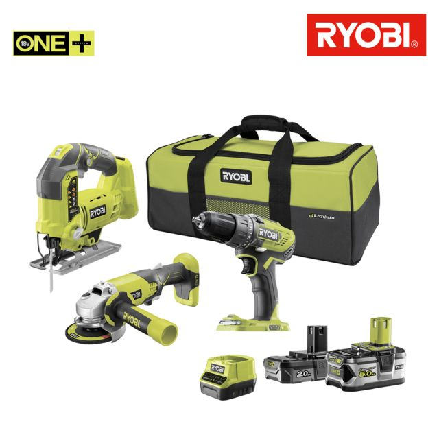 ryobi pack perceuse visseuse 18v oneplus r18dd3 252s. Black Bedroom Furniture Sets. Home Design Ideas
