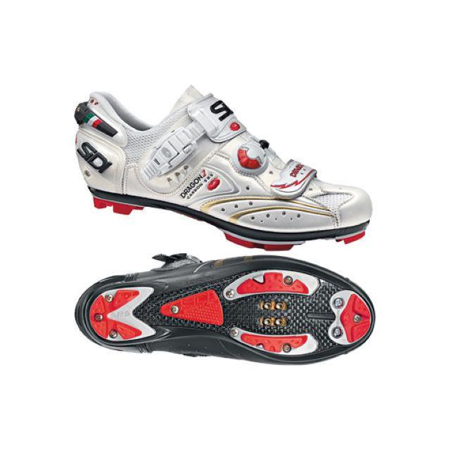 5012c49fb6b60d Sidi - Dragon 2 Carbon Srs Blanche Chaussures Vtt - pas cher Achat ...