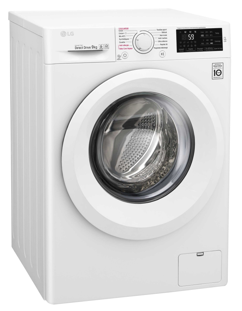 lg lave linge f94j53wh blanc achat lave linge hublot. Black Bedroom Furniture Sets. Home Design Ideas