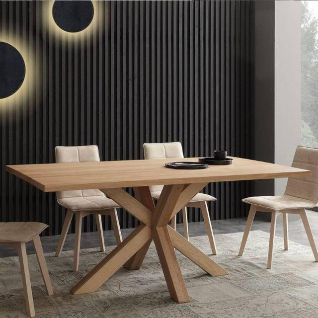 Inside 75 Table repas Cartesio en frêne massif naturel