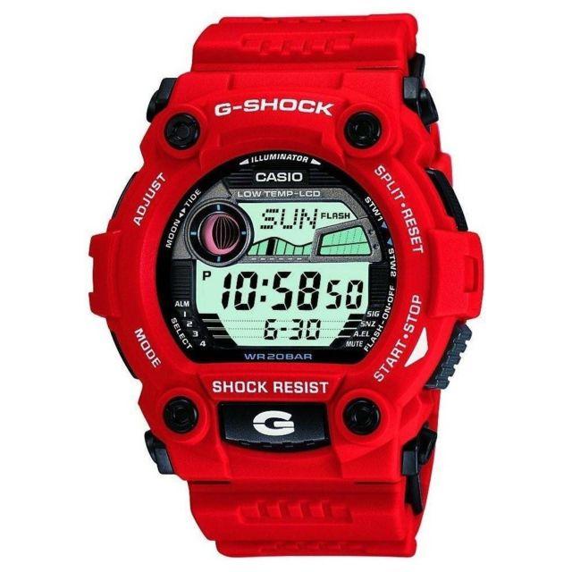 montre casio g shock red g 7900a 4er