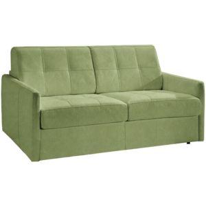 inside 75 canap lit cube convertible en microfibre vert couchage 120cm ouverture rapido 95cm. Black Bedroom Furniture Sets. Home Design Ideas