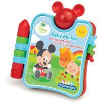 Clementoni - Mickey et mon premier livre sur les animaux - 62264.1