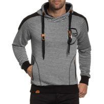 BLZ Jeans - Sweat gris clair homme à capuche