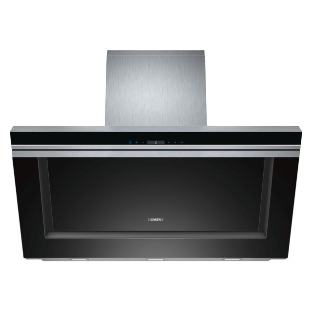 SIEMENS hotte décorative inclinée 90cm 800m3/h noir - lc91kb672