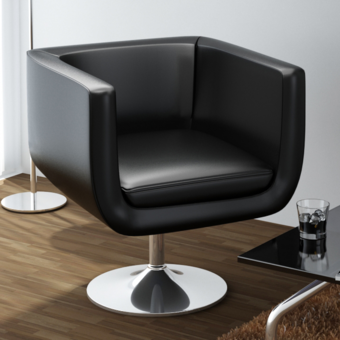 Vidaxl Fauteuil Design Club Noir