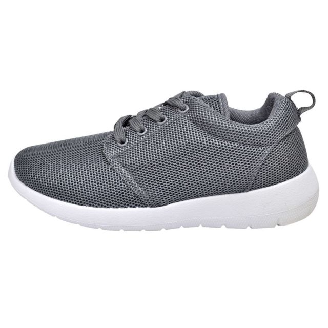 f26a2fdc3cad Vidaxl - Chaussures de running femme grises à lacets taille 38 - pas cher  Achat   Vente Entretien des chaussures - RueDuCommerce