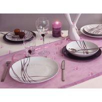 Novastyl - Service de table 18 pièces en porcelaine Liane