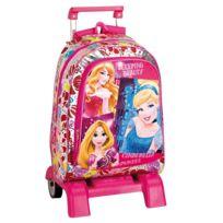 Princesses Disney - Sac à dos à roulettes Princesse Disney Stars 43 Cm trolley Haut de Gamme - Cartable