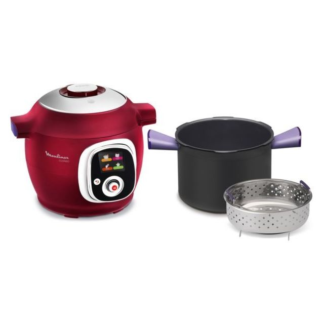 MOULINEX - Multicuiseur Cookeo Rouge - CE701500