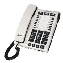 Geemarc - Cl1200 Téléphone filaire Blanc avec 19 mémoires directes version Française