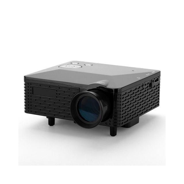 Auto-hightech Mini Projecteur vidéo - 60 Lumens, 300: 1, affichables 1,67 millions de couleurs, entrée: Av / Vga / Usb / Sd / Hdmi