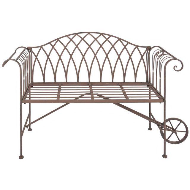 ESSCHERT DESIGN Banc de jardin brouette en métal
