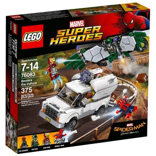 Lego Marvel Super Heroes - La bataille suprême pour la survie d'Asgard - 76084 LEGO® Marvel Super Heroes - L'attaque aérienne de VautourSpider-Man et Iron Man luttent contre le Schoker et Vautour !