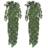 Vimeu-Outillage - 2 pcs Lierre artificiel Vert 90 cm