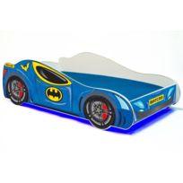 160/x 80 cm pour enfants avec matelas de 7/cm inclus dans le prix Lit simple en forme de voiture Cars Rouge