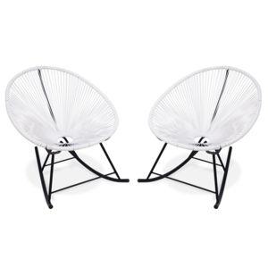 alice 39 s garden fauteuils ufs bascule blancs acapulco rocking pas cher achat vente. Black Bedroom Furniture Sets. Home Design Ideas