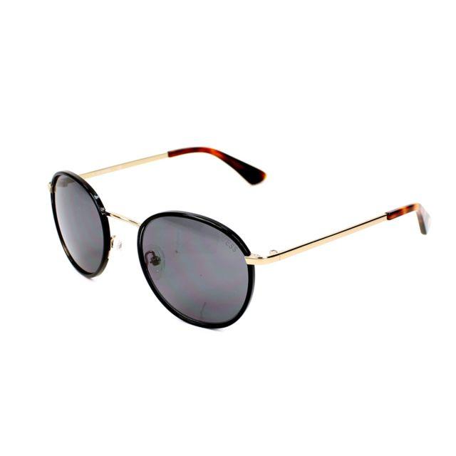 Guess - Gu-7415 32A Noir brillant - Or - Lunettes de soleil - pas cher Achat    Vente Lunettes Tendance - RueDuCommerce b2b3742e638a