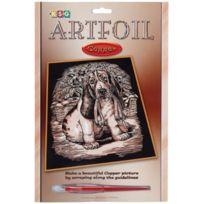 ToyCentre - Ksg Artfoil Copper 0612 Craft Kit With Basset Hound Motif