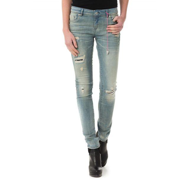 e0f3561f731a4 Kaporal 5 - Loka Worker Destroy - pas cher Achat   Vente Jeans femme -  RueDuCommerce