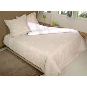 vent du sud parure housse de couette coton 260x240 cm feroe lin avec 2 taies d 39 oreiller ecru. Black Bedroom Furniture Sets. Home Design Ideas