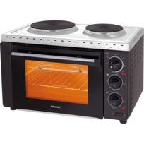 Sencor - Four électrique avec plaques chauffantes 3400W 28L 2 plaques de cuisson en fonte diamètres de 152 et 187 mm