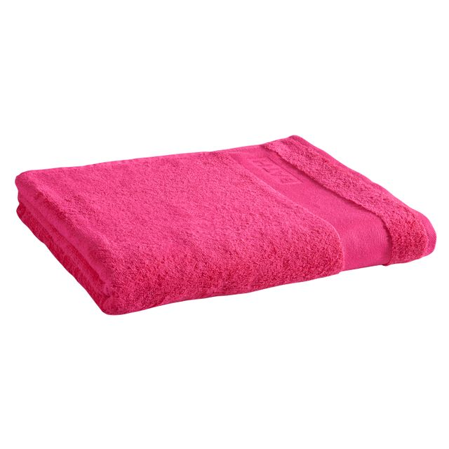 tex home drap de bain bath en coton fushia pas cher achat vente serviettes de bain. Black Bedroom Furniture Sets. Home Design Ideas