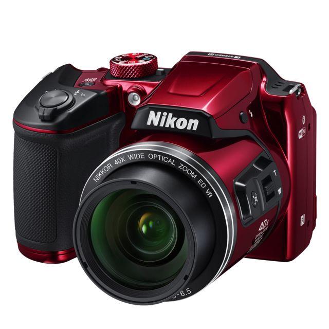 NIKON appareil photo bridge rouge - b500
