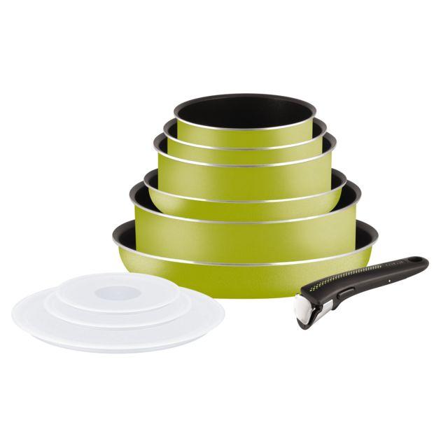 TEFAL Set 10 pièces Ingenio Essential vert - L2119802