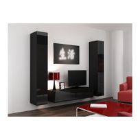 chloe design meuble tv design suspendu vini noir